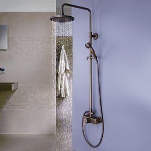 Zeige Details für (EU Lager) Antik Messing Duschearmatur Badezimmer mit 8-Zoll-Duschkopf + Handbrause