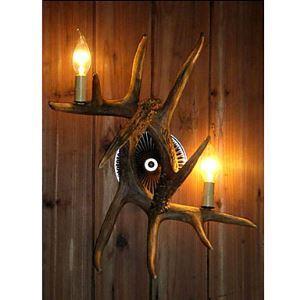 (EU Lager)Künstlerische Geweih vorgestellten Wandleuchte mit 2 Leuchten