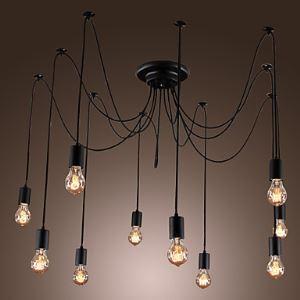 (EU Lager)Künstlerischer 10-flammiger Kronleuchter-Glühlampe Design