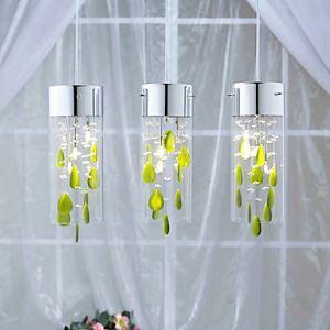 (EU Lager)Künstlerische Kristall-Hängelleuchte grün Dekorationen G4 Glühlampe Sockel