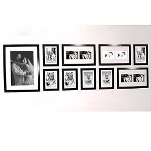 (EU Lager) Schwarze Wand Bilderrahmen - 10er-Set