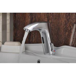 (EU Lager)Messing Bad Waschtischarmatur mit automatischer Sensor (warm / kalt)