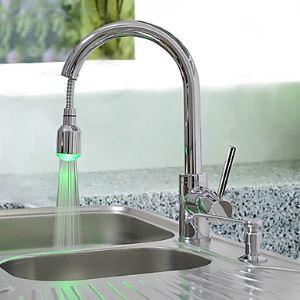 (EU Lager) Küchenarmatur Ausziehbar LED Wasserhahn