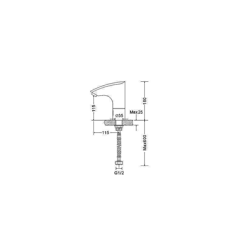 ausverkauft eu lager zeitgen ssische chrom ber hrungsfreie oberfl che sensor thermostat bad. Black Bedroom Furniture Sets. Home Design Ideas