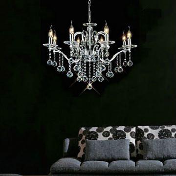 kristall kronleuchter modern elegant 8 flammig. Black Bedroom Furniture Sets. Home Design Ideas