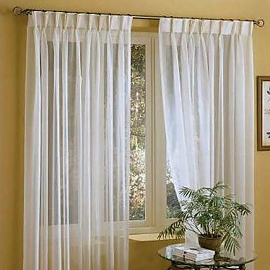 vorh nge transparente gardine leinen wei feste gardinen 1er pack. Black Bedroom Furniture Sets. Home Design Ideas