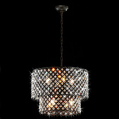 ausverkauft eu lager moderne 8 flammige h ngeleuchte mit kristall tropfen. Black Bedroom Furniture Sets. Home Design Ideas