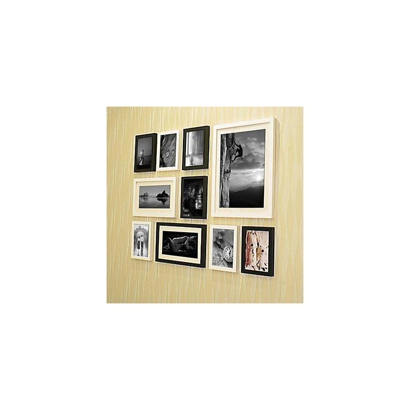 ausverkauft moderne wand bilderrahmen 10er set. Black Bedroom Furniture Sets. Home Design Ideas