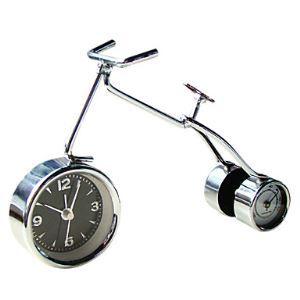 (EU Lager)Moderne Fahrrad-Wecker mit Thermometer 6 '