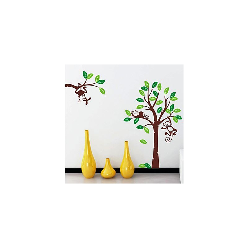 wanddeko wandtattoo affe baum wandtattoo wandsticker. Black Bedroom Furniture Sets. Home Design Ideas
