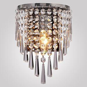 Wandleuchte Kristall Halb Rund Design 1 flammig