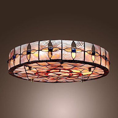 tiffany stil einbauleuchte mit 3 lampen in runde. Black Bedroom Furniture Sets. Home Design Ideas