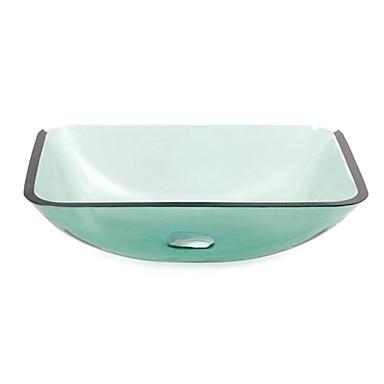 Eu lager zeitgen ssische geh rtetes glas schiff form for Eckiges waschbecken