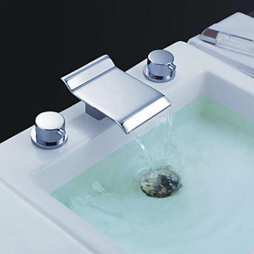 Wasserfall zeitgenössische Bad Waschtischarmatur (verchromt)