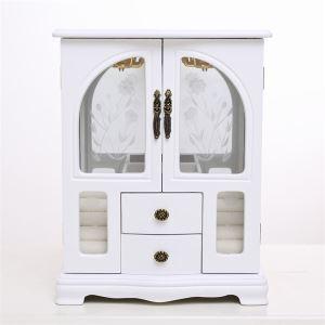 Minna-2-Tür-Schmuck-Box in weiss