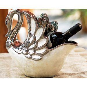 Europäische klassische Shell künstlerische Keramik Swan Shell Wine Rack
