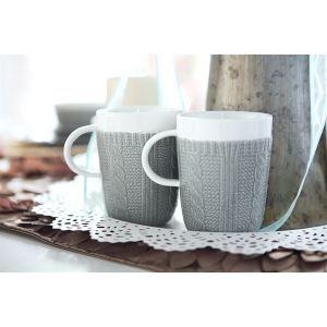 Erinnerung doppelverglasten französischen Stil Garn Muster Keramiktasse (separat erhältlich)