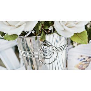 Moderne Edelstahl-Blume-Eimer