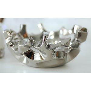 Zeitgenössische Hohl Galvanisiert Obst Teller-Silber