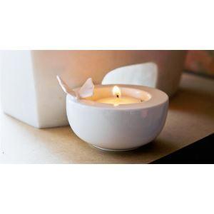 Zeitgenössische Keramik Schmetterling Kerzenhalter