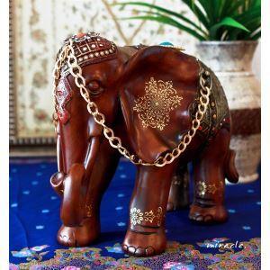 Handgemalte Südostasien Stil Polyester Elefant Ornament