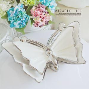 Modern Galvanisiert Keramik Schmetterling Decroative Platte (sich separat verkaufen)