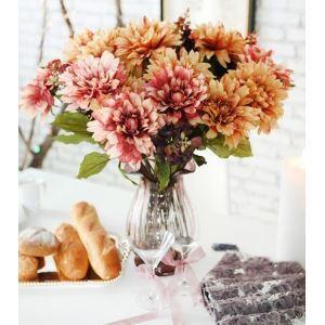 Dahlien, Löwenmaul, Bolok Glas Blume Vase (Medium, lila)