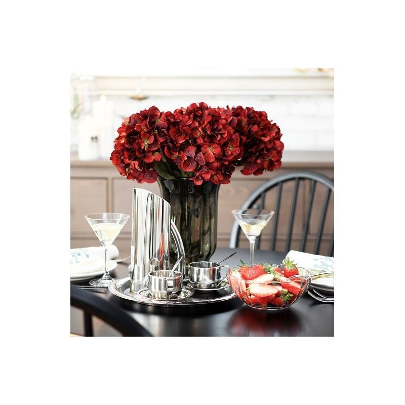 ausverkauft franz sische klassische hortensien seidenblumen winzige glas vase grau blumenschmuck. Black Bedroom Furniture Sets. Home Design Ideas