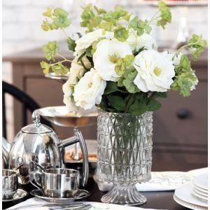 Rosa, Kirschblüte, kleine Kristall Vase