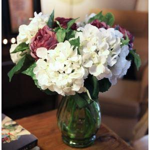 Schottland Hortensien Seidenblumen, Bolok Glas Blumenschmuck Vase