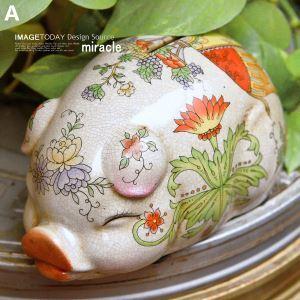 Französischen Stil Floral Keramik Sparschwein