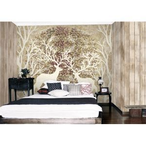 Moderne Hirsche Wald Vlies Papier-Wandbild