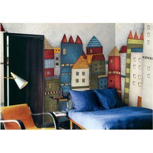 Zeitgenössische bunt Schloss-Vlies Papier Wandbild