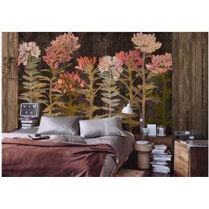 Zeitgenössische Blumen Vlies Papier-Wandbild