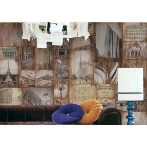Zeitgenössische Architektur Vlies-Papier-Wandbild