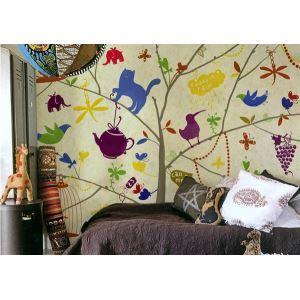 Zeitgenössisches bunte Kinder-Vlies Papier Wandbild