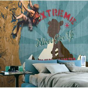 Zeitgenössische Klettern Vlies Papier-Wandbild