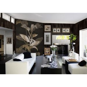 Zeitgenössische Zwielicht Pflanzen-Vlies Papier Wandbild