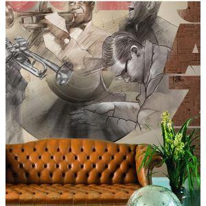 Zeitgenössisches Jazz-Vlies-Papier-Wandbild