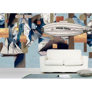 Zeitgenössische Reisen Tagebuch Vlies Papier Wandbild