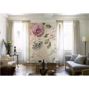 US-amerikanischer Landhausstil Vintage Rosen Vlies Papier Wandbild
