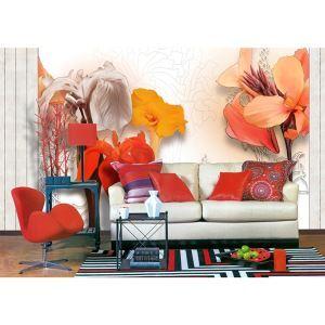 Zeitgenössische Canna-Vlies Papier-Wandbild