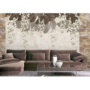 Zeitgenössische durchhängen Blumen Vlies Papier Wandbild
