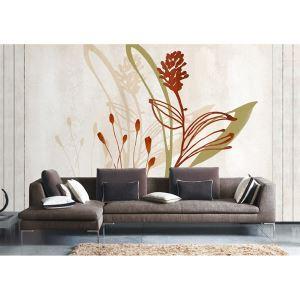 Zeitgenössische künstlerische Blumen Vlies Papier-Wandbild