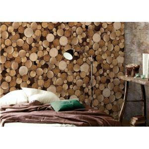 Zeitgenössische Holz charakteristischen Vlies Papier-Tapeten