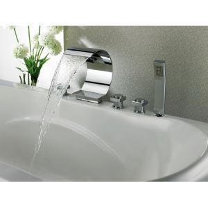 (EU Lager) Badewannenarmatur Wasserfall Einzigartiges Design