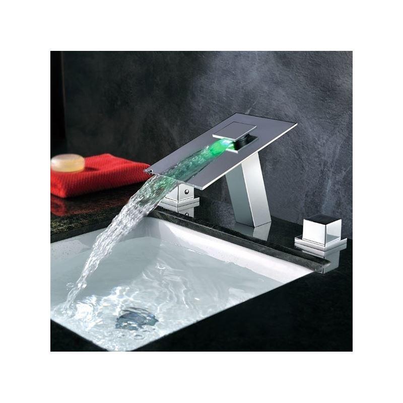 Ausverkauft eu lager modern led wasserhahn zweigriff for Wasserhahn bad modern