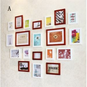 (EU Lager)Wand Bilderrahmen Collage-20er Set Holz