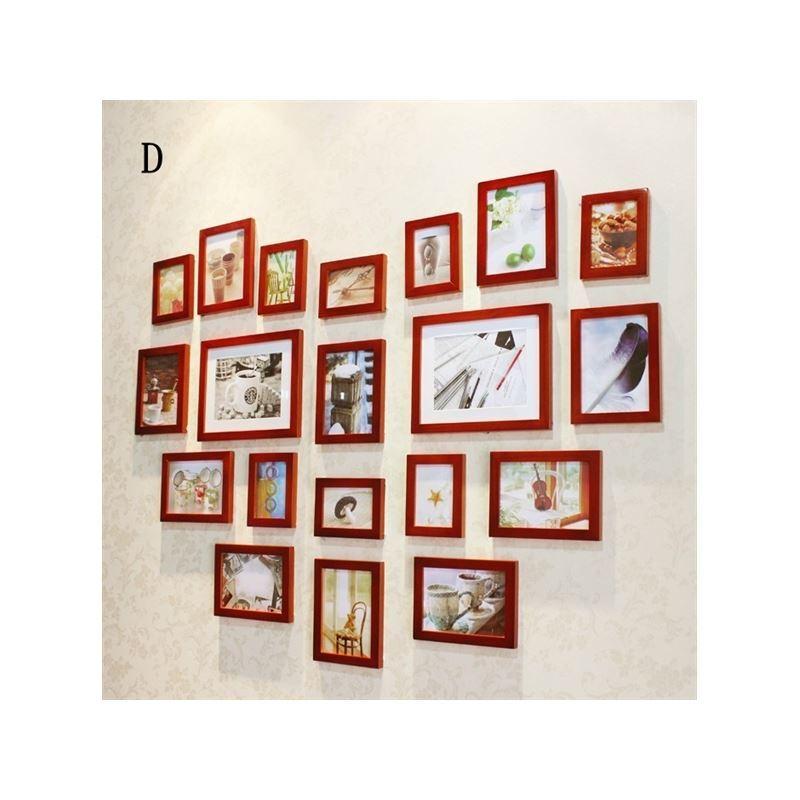 hausdeko bilderrahmen eu lager wand bilderrahmen collage 20er set holz. Black Bedroom Furniture Sets. Home Design Ideas