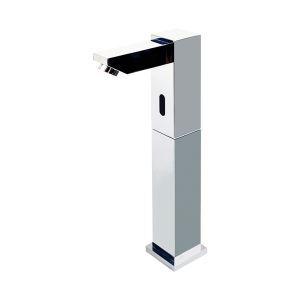 (EU Lager)Zeitgenössische Chrom Oberfläche Messing Sensor Waschtischarmatur (Hoch)